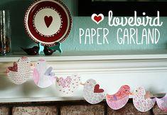 Lovebird Paper Garland