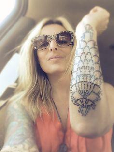Pineapple crochet motif tattoo.