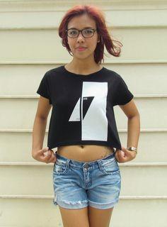 Avicii Logo Ladies Crop Top Tank Top Boyfriend T Shirt Vest Singlet Dj Levels Calvin Harris Steve Aoki Zedd Afrojack David Guetta Hardwell on Etsy, $15.98