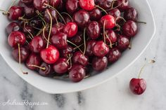 Recipe for cherry butter, made with sweet cherries. Cherry Butter Recipe, Flavored Butter, Cherry Desserts, Cherry Recipes, Yummy Treats, Sweet Treats, Best Sweets, Sweet Cherries, Canning Recipes