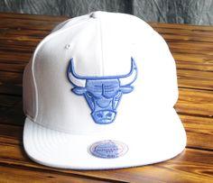 6f966e1d548 Chicago Bulls Mitchell   Ness Powder Blue White Poly Snapback Hat Caps  Game