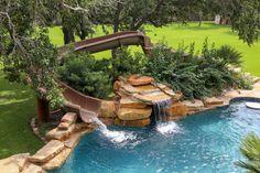 custom pool slides - Google Search