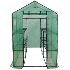 Gardening  Hobby Greenhouse for Garden Made w Heavy Duty Plastic in Green Finish 4 Ft W x 8 Ft D -- Locate this gardening item simply by clicking the VISIT button