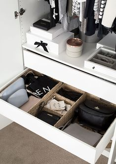 Wardrobe Drawer Organization - Homey Oh My