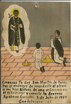 San Martin ex voto thanking him for curing a man's son of a stomach infection.