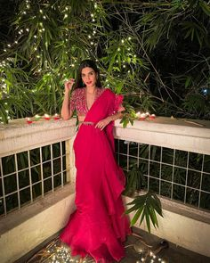 Diana Penty, Indian Couture, Bollywood Actress, One Shoulder, Saree, Actresses, Boutique, Formal Dresses, Fashion Design