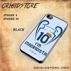 I am Madridista Rear Madrid Logo Al Snap On Black White 3D For Iphone 4/4S case