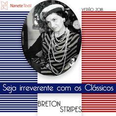 COCO CHANEL    #nanetetextil #malhas #malharia #produtonacional #modabrasileira #estampa #print #pattern #textil #inspiracao #motivacional #frase #foco #reflexao #irreverencia #cocochanel #chanel #classico #listras #stripes #breton
