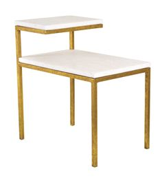 """Oly Studio Quinn Side Table - Iron Table with Resin Top  18.5""""W X12.25""""D X 20""""H"""