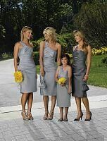 Cute bridesmaids and flower girl