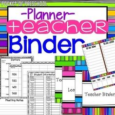Get organized and keep all your papers in one place makes teaching so much easier with this teacher binder! My teacher binder goes with me everywhere because it has everything I need!