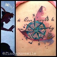Russell van Schaick - compass and ship - to live would be an awfully big adventure