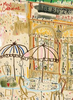 This listing is for a signed print titled Le Bistro De La Gare Paris by UK artist and printmaker Clare Caulfield. The print is taken from my original watercolour painting/ drawing from my Parisian sketchbook. Signed and titled Le Bistro De La Gare Paris in pencil on the front of the