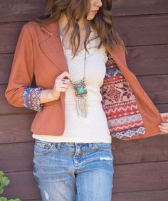 Look at this Nick & Mo Burnt Orange Not Too Soon Blazer on #zulily today!