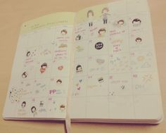Pretty much how my Momoi planner looks with all the cute stickers!