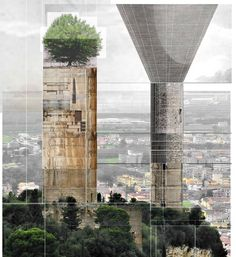 Towers on a hill. Portfolio Layout, Towers, 21st Century, Geometry, Skyscraper, Multi Story Building, Collage, Draw, How To Plan