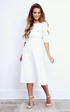 £36 white 3/4 dress silk fred