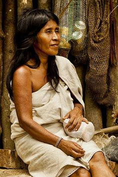 Kogui-Indian woman-Portrait. Colombia, S.A. Sierra Nevada, Madonna, American Spirit, Lost City, Female Portrait, People Around The World, Deities, Beautiful People, Santa Marta