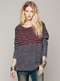 Free People Engineered Stripe Cowl at Free People Clothing Boutique