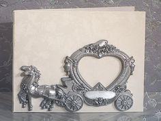 Elegant silver Wedding Coach Guest book