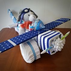 Airplane diaper cake. Great baby shower gift