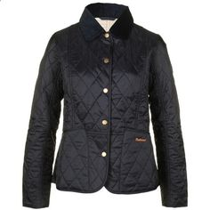 Barbour Womens Summer Liddesdale Navy Blue Quilted Jacket ($105)  liked on Polyvore