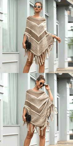 Cheap Leisure Autumn Cloak Shawl Tassel Geometry Round Collar Pullover Women Sweater For Big Sale! Girls Sweaters, Winter Sweaters, Long Sweaters, Women's Sweaters, Cardigans For Women, Cloak, Sweater Fashion, Round Collar, Geometry