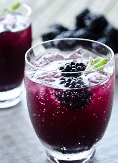 Here are 13 delicious summer cocktails each with its own recipe like this Blackberry Sage Cooler. Make the perfect summer drink to serve guests at your own party. Many juice and alcohol mixes to concoct. Party Drinks, Cocktail Drinks, Fun Drinks, Yummy Drinks, Cocktail Recipes, Alcoholic Drinks, Chambord Cocktails, Drink Recipes, Cocktail Ideas