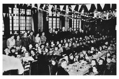 Children and teachers from Guernsey's Forest school enjoy a Christmas party in Cheadle Hulme Parish Hall. Courtesy of Rose Short