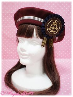 Angelic Pretty Chocolate Rosette beret