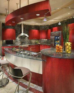 Another Red kitchen idea
