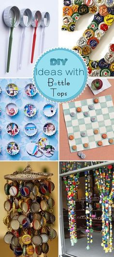 DIY Ideas with Bottle Tops. A lot of easy DIY projects which are fun to try with your kids!