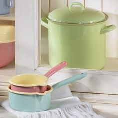 RIESS Enamel Kitchenware -- I have one item I found cheap in TKMaxx and it's so lovely, I may save up for more...