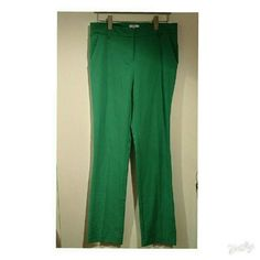 Green straight leg dress pants Great condition worn once. These pants are amazing, they are stretchy and hit mid rise. Very comfortable and nice material. Only selling because I am only allowed to wear black pants at my new job.  My size 6/8 Bust 34D/36C New York & Company Pants Straight Leg