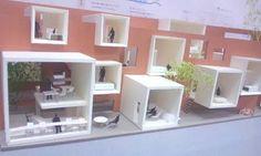 卒業 模型 - Google 検索 Grid Architecture, Architecture Concept Diagram, Architecture Images, Architecture Student, Co Housing, Casas Containers, Narrow House, Arch Model, Cube Design