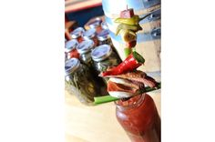 What makes this Bloody Mary, served at Chicago's Dragon Ranch, isn't just the drink itself — it's the garnish. Be forewarned, you'll need some solid skewer skills to build this massive garnish.