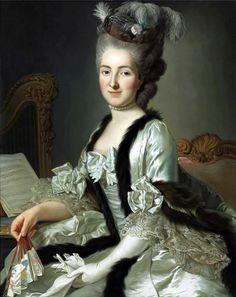 Alexander Roslin (1718-1793): Portrait of the Reichsgräfin von Fries, née Gräfin Anna d'Escherny (1737-1807). 18th century.