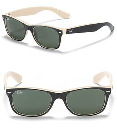 One of my favorites!  Ray-ban New Wayfarer Sunglasses in Black (black tan)