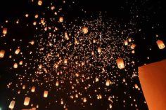 The Yi Peng Lantern Festival in Chiang Mai, Thailand
