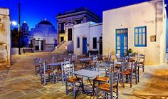 Travel Guide to Serifos, Cyclades, Greek Islands, Greece Greece Islands, Al Fresco Dining, Greece Travel, Beautiful Places, Architecture, House Styles, Colors, Restaurants, Greek Beauty