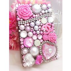 Pink Coco cigarette case-This product is handmade one.-$37