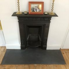 Bespoke polished concrete hearth fitted in London Victoria town house by Concrete Tuesdays