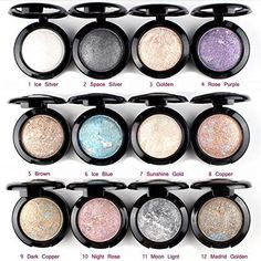Banggood 1 Pc Lady Natural Luminous Metallic Baked Eyeshadow Palette Shimmer Cosmetic 8 Copper *** See this great product.