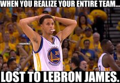 Steph Curry's realization after Game 2 of the #NBAFinals! #Cavs #Warriors…