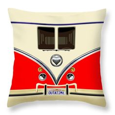 Red Teal Minibus Love Bug Availabe for @pointsalestore #PillowCase #PillowCover #CostumPillow #Cushion #CushionCase #PersonalizedPillow #funny #cute #fun #lol #veedub #golf #kombi #beetle #bus #camper #retro #splitwindow #van #vintage #lovebus