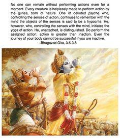 Bhagavad Gita 3.5-3.8