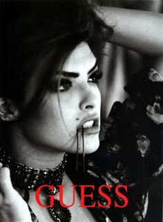Shana for Guess, by Ellen von Unwerth, 1991 Ellen Von Unwerth, Guess Models, 90s Models, Tim Walker, Kiko Mizuhara, Cindy Crawford, Guess Campaigns, Ad Campaigns, Foto Glamour