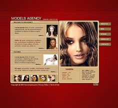 Model Agency Flash Templates by Adonis