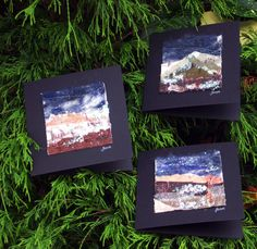 Ideal Special Christmas Card by HelenMoyesDesigns on Etsy Winter Landscape, Textile Art, Christmas Cards, Greeting Cards, Textiles, The Originals, Unique Jewelry, Frame, Handmade Gifts