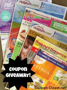 Enter to win 6 Coupon Inserts!    Giveaway ends January 10th, 2013